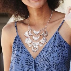 Stella & Dot Silver Plait Necklace - NWOT